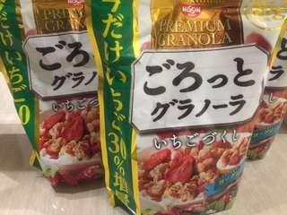 🚚 日本 日清草莓優格水果穀片 大包500g 增量30%版