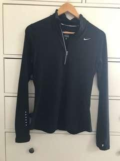 NIKE black dri-fit long sleeve shirt