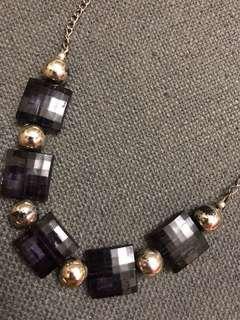 Black acrylic statement necklace