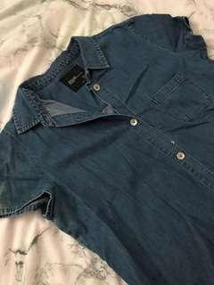Zara denim dress size L