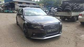 """AUDI A4 TFSI 1.8T AUTO TRANSMISSION YEAR 2011/2012  NICE & CLEAN INTERIOR WELL MAINTAINED  SUPERB CONDITION/LIKE NEW  FULL RS BODYKIT 18"""" SPORTRIMS  STATUS SINGAPORE 🇸🇬 SELF COLLECT JB RM 20K NEGO"""