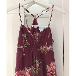 American Eagle Floral Sundress, Size Small