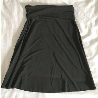 Digit@l Clothing | Black Rolldown Top Skirt, Size Small