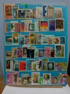 Worldwide Stamps 60pcs Set 10