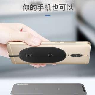 倍思 超纖系列無線充電器接手機收贴片--免運