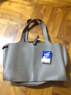 仿皮革 啡色 手袋 woman handbag