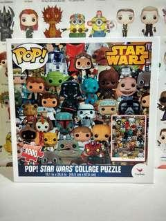 🚚 Funko Pop Star Wars Collage Jigsaw Puzzle 1000 Pieces Collectible Gift