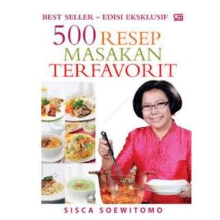 Ebook 500 Resep Masakan Terfavorit - Sisca Soewitomo