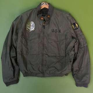 Jaket BOMBER Type G8 USN With Patches