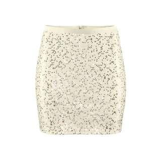 H&M Sequin Mini Skirt in Champagne; Size Small