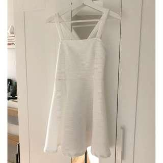 H&M Vintage-Style White Fit & Flare Dress, Size Small