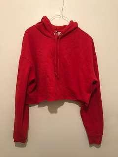 Cropped red hoodie (large)