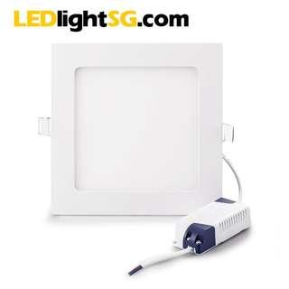 12W LED Flat Panel Downlight Taiwanese Chipset 1yr warranty Round Square White / Warm White High Quality