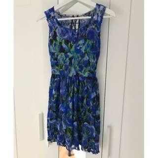 Pins and Needles Lace Floral Dress; Size XS