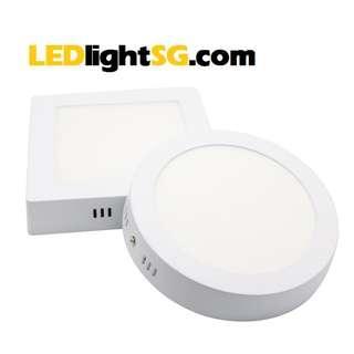 12W LED Ceiling Surface Panel Lamp Light Taiwanese LED Round Square White Warm White 1 yr warranty