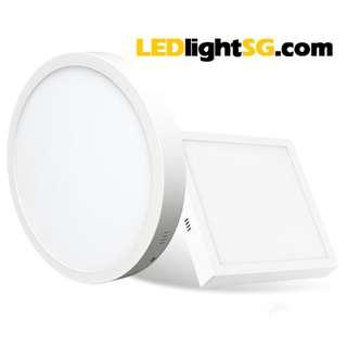 24W LED Ceiling Surface Panel Lamp Light Tawanese LED Round or Square White 1 yr warrranty