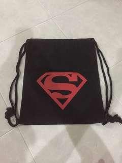 🚚 Red Superman Drawstring Bag Free Mailing
