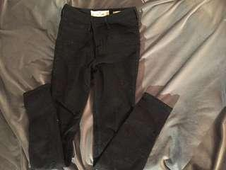 Black Hollister High waisted jeans