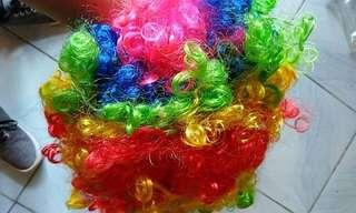 Wigs blonde black yellow white pink many colors avail