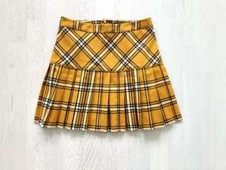 Gorgeous Tartan Patterned Forever 21 Mini Skirt SIZE S