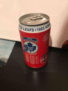 Coca-Cola 1993 Toronto Maple Leafs Champions Norris Division Tin Bank