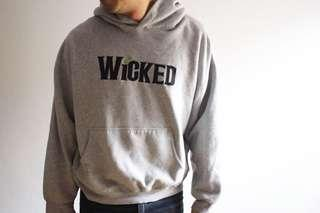 authentic WICKED The Musical embroidered hoodie in marle, unisex M