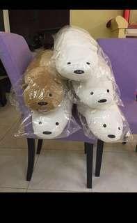[Instock] [WBB] 90cm Icebear/grizzy Hugging Plush