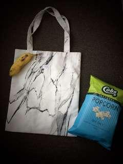 Marble reusable tote