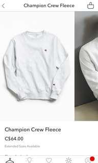 Champion crewneck sweater gray