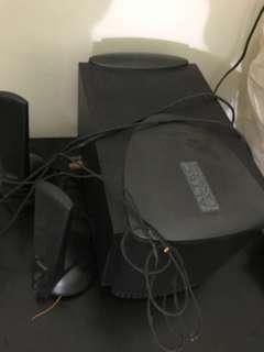 Altec Lensing speakers and subwoofer model atp3