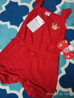baby cheetah lace rompers