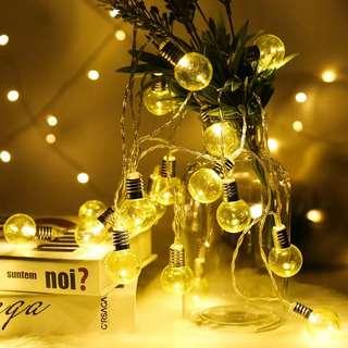 Large Bulb Fairy String Light Hipster Retro Vintage Light