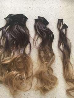 Hair extensions 7pc
