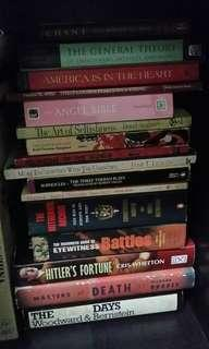 Different Titles on History, Philosophy, Religion, Literature, Politics, etc. (each book, price range P200.00 - P600.00)