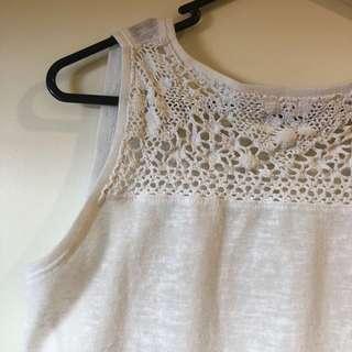 SFERA white sleeveless top