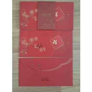 🚚 RBS Royal Bank of Scotland, CNY red packet envelope (Ang Pao, Ang Bao, Angpao, Hongbao)