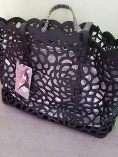 Tas Hitam / Black summer tote bag