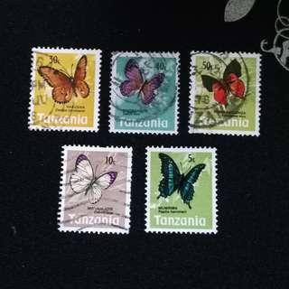 #5 Tanzania Stamps
