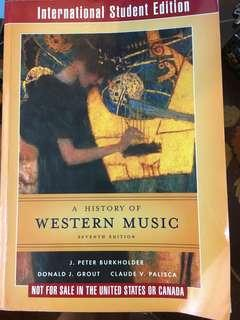 A history of western music, 7th edition 大學音樂系教科書