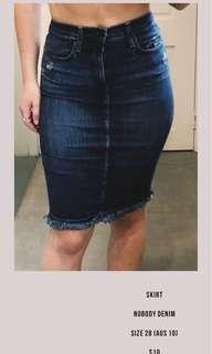 Nobody denim skirt size 10