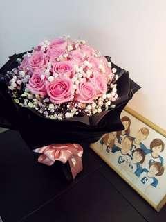 Flower Bouquet pink Rose's