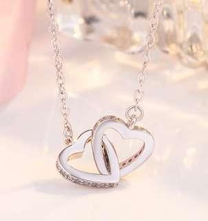 Valentine's Day explosions heart and soul simple necklace
