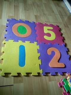 Letter and number mats