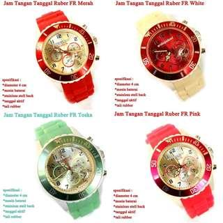 jam tangan Tanggal FR Rubber
