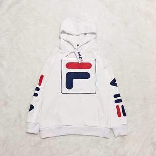 FILA Heritage Box Logo Pullover Hoodie Sweater