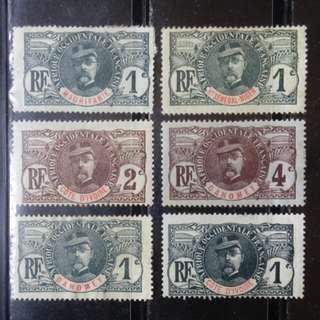 [lapyip1230] 法屬西非各國 1930年 陸軍將領 新票 Mint