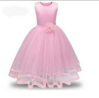 Pink formal elegant dress for kids