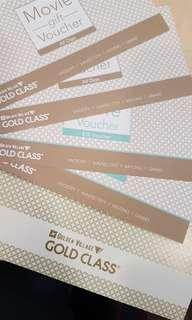 Gold Class GV movie  and wine & dine vouchers