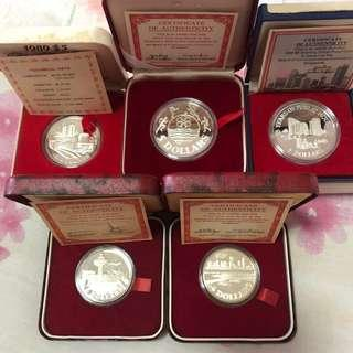 Singapore $5 Silver Proof Coins