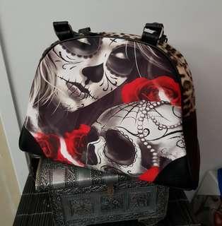 🎠NEW🎠 Sugar skull leopard print handbag